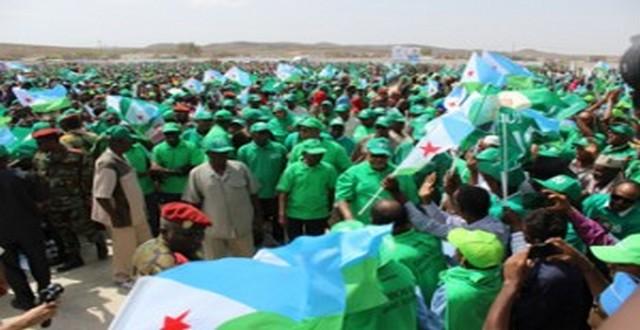 Lancement de la campagne électorale UMP à Dikhil – Une marée verte scandant « IOG, IOG… »